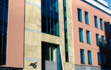 SSG Fassade Maxberg® Jura Kalkstein gelb, Lapps Quay, Cork, Irland